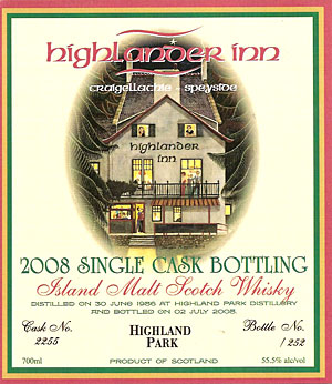 Highland Park front label