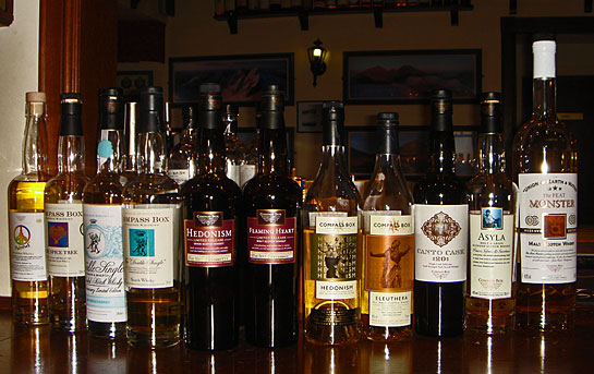 our Compass Box Whiskies selection