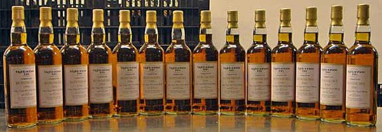 All 14 bottles of the 1966 Bowmore IN THE WORLD after being hand labeled